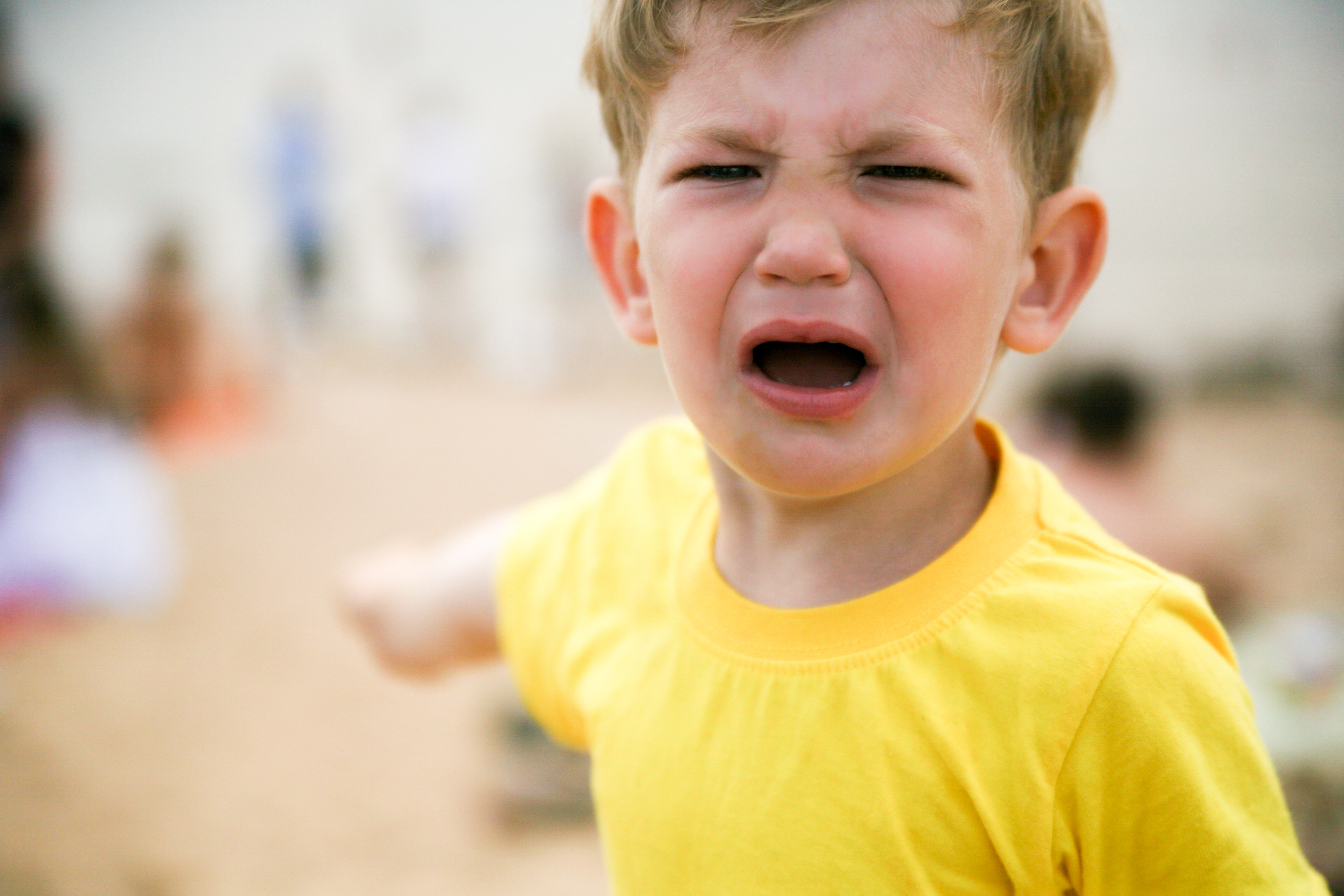 childish tantrums, tears and hysterics